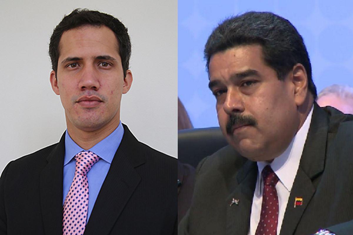 Хуан Гуайдо и Николас Мадуро