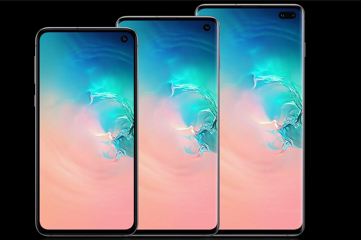 Galaxy S10e, S10 и S10+, иллюстрация с сайта Samsung