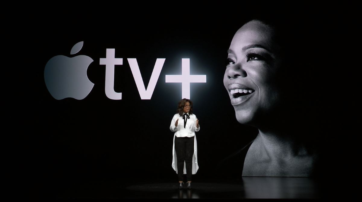 Опра Уинфри, кадр из презентации Apple