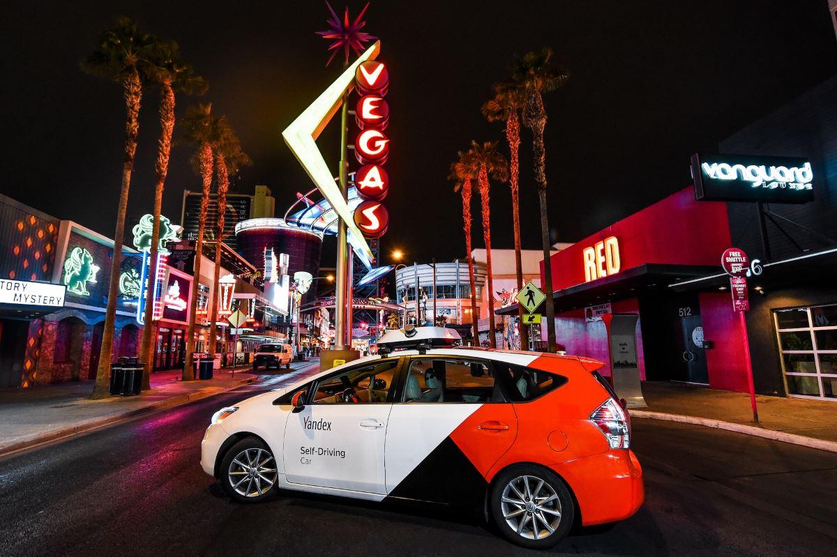 Беспилотник «Яндекса» в Лас-Вегасе, фото пресс-службы компании