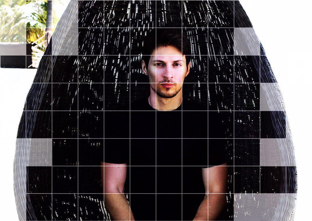 Павел Дуров, обработанное фото из его Instagram