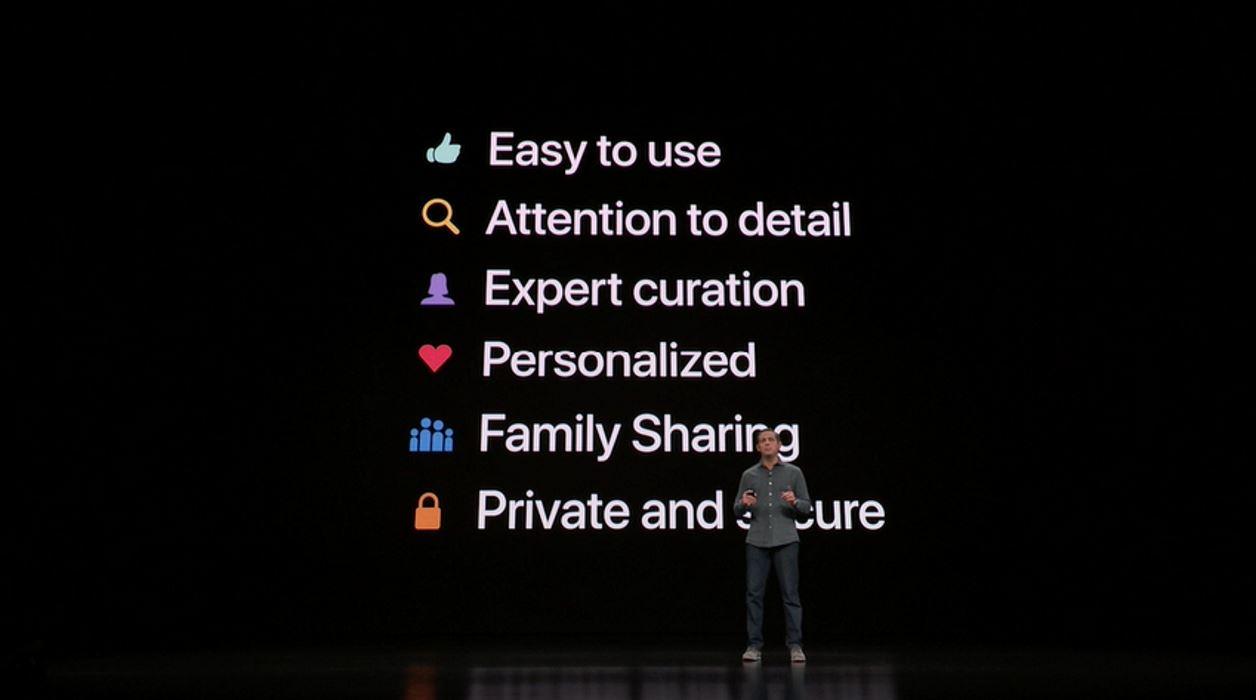 Принципы разработки сервисов Apple, кадр из презентации компании