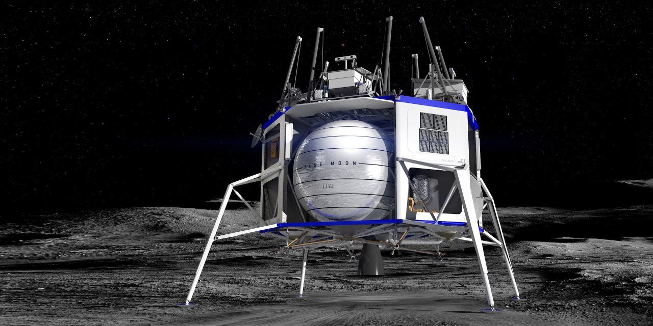 Рендеринг лунного модуля Blue Moon с сайта Blue Origin