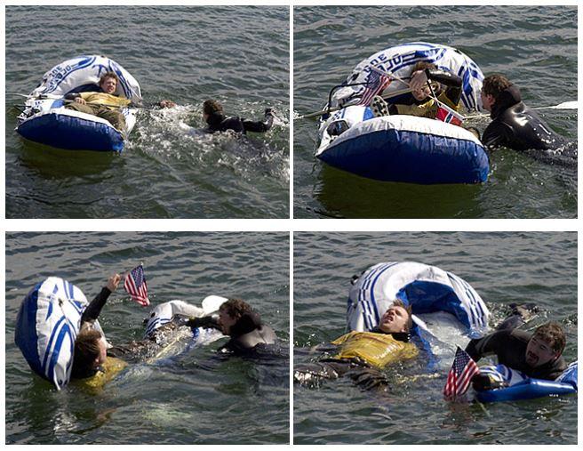 Спасательная операция во время заплыва Йона фон Течнера
