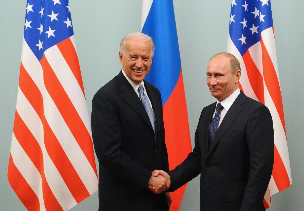 Байден и Владимир Путин