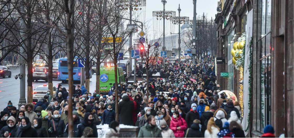 Митинг 23 января, Москва Фото: Дмитрий Серебряков